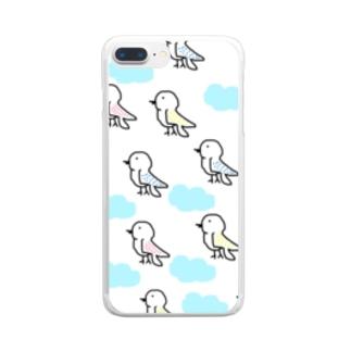 色とりどりの鳥 Clear smartphone cases