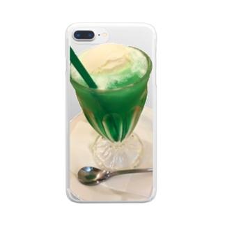 大好きクリームソーダ Clear smartphone cases