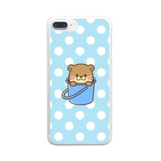 コツメカワウソ シリーズ 夏ver  Clear smartphone cases