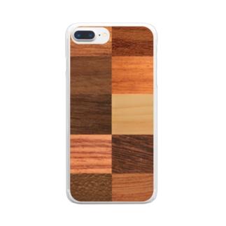 自然の木の模様を楽しむウッディーな木目 Clear Smartphone Case