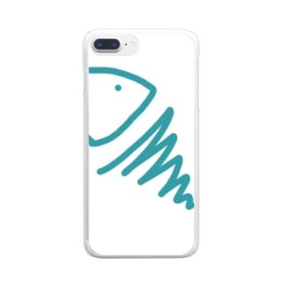 むき出しのさかな Clear smartphone cases
