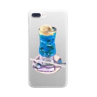 くりーむそーだ2 Clear smartphone cases