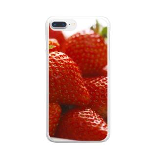 山積みいちご Clear smartphone cases
