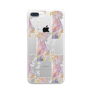 ブロックチェック Clear smartphone cases