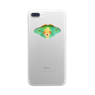 蛾 Clear smartphone cases