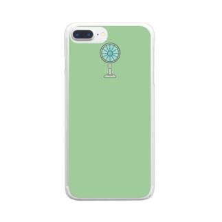 レトロっぽい扇風機 Clear smartphone cases