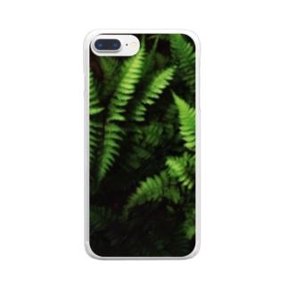 グリーンT Clear smartphone cases