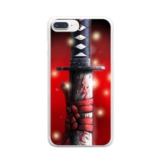 日本刀(KATANA) Clear smartphone cases