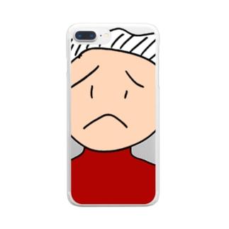 古参ファンの小原さん Clear smartphone cases
