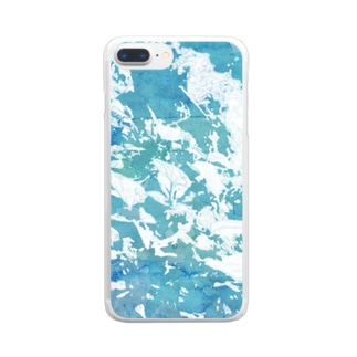 playing water Clear smartphone cases