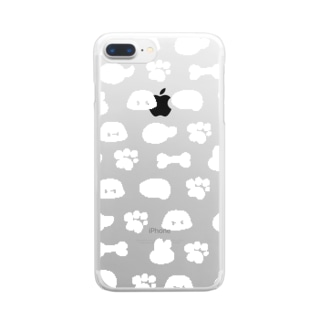 いぬときどきうさぎ Clear smartphone cases
