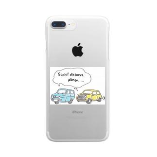 可哀想なロビン Clear smartphone cases