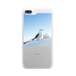 不忍池のかもめ Clear smartphone cases