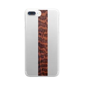 スネークウッド Clear smartphone cases