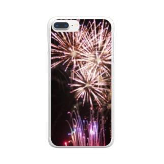 あの夏の花火 Clear smartphone cases