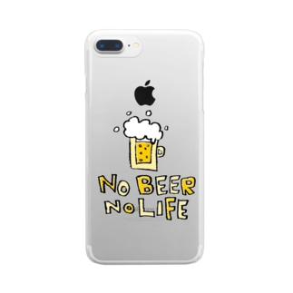 Children's Art / ノービールノーライフ NO BEER NO LIFE Clear smartphone cases