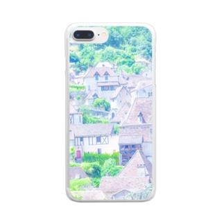 フランスの美しい村  Clear smartphone cases