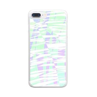 椛作成イラスト4 Clear smartphone cases