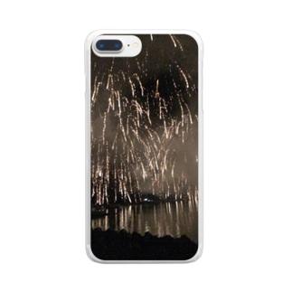 花火景色 Clear smartphone cases