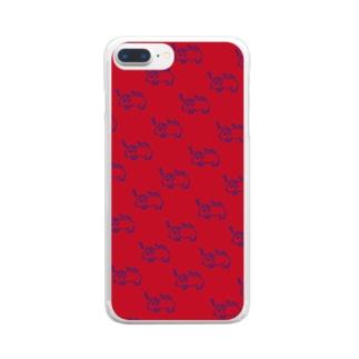 半目のヤンチー Clear smartphone cases