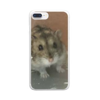 キラキラハム Clear smartphone cases