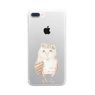 fukuro×hana Clear smartphone cases