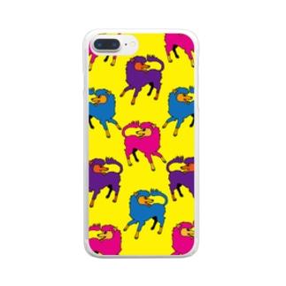 犬的なやつ【黄】 Clear smartphone cases