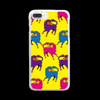 CHEBLOの犬的なやつ【黄】 Clear smartphone cases