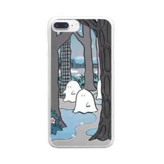 森のオバケちゃん(よる) Clear smartphone cases