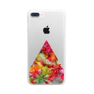不自然な正三角形 Clear smartphone cases