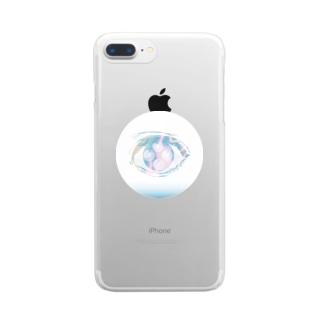もやもやの目 Clear smartphone cases