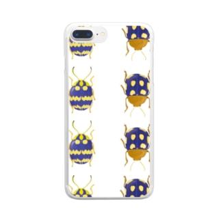 ズングリハムシくん Clear smartphone cases