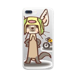 テン:バイカー Clear smartphone cases