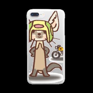 ザ・ワタナバッフルのテン:バイカー Clear smartphone cases