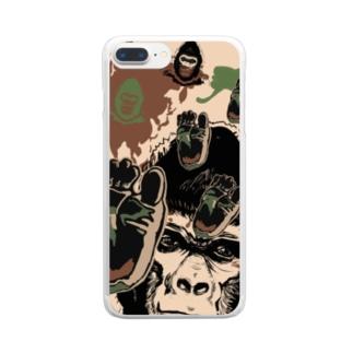 ゴリゴリの迷彩柄 Clear smartphone cases