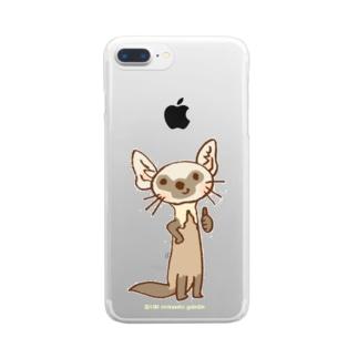 テンのキャラ:サムズアップ👍 Clear smartphone cases