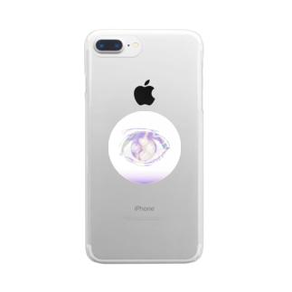 もやもやの目2 Clear smartphone cases