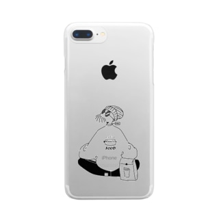 me_ illustrationのパン Clear smartphone cases