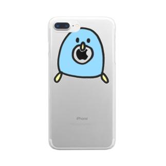 どうぶつえんのぱくぱくぺんちゃん Clear smartphone cases