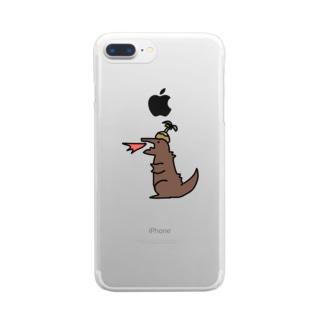ちょっとしま誤字ラ Clear smartphone cases