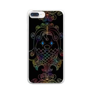 アマビエの祈り Clear smartphone cases
