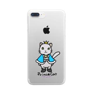 ねこの王子様*ブルー Clear smartphone cases