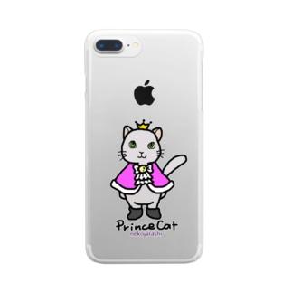ねこの王子様*ピンク Clear smartphone cases