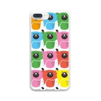 くまとビール「BEEAR」アートスタイル Clear smartphone cases