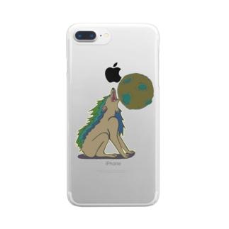 雄叫び Clear smartphone cases