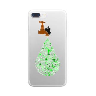 エコ 廃棄物 Clear smartphone cases