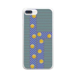 畳1(黒田) Clear smartphone cases