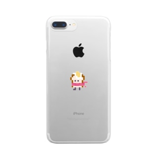 目玉焼きトーストマン Clear smartphone cases