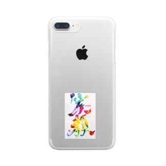 笑顔で過ごそう Clear smartphone cases