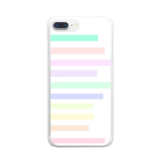 パステルカラーの階段 Clear Smartphone Case